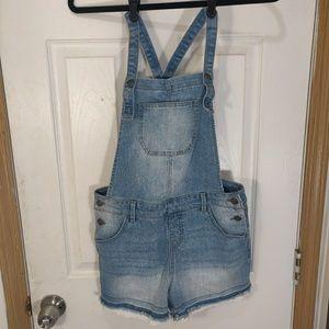 Cat & Jack XL 14/16 denim shorts overalls